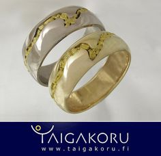 KVS108. Kultahippusormus, kulta , valkokulta. Gold nugget rings, gold, white gold. www.taigakoru.fi   Flickr - Photo Sharing!