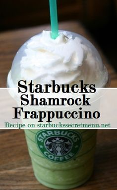 Go green for St. Patrick's Day with a Starbucks Shamrock Frappuccino! ‪ Go green and make this St. Patrick's Day a festive one with a Starbucks Shamrock Frappuccino! Starbucks Frappuccino, Starbucks Secret Menu Drinks, Frappuccino Recipe, Starbucks Recipes, Starbucks Coffee, Coffee Recipes, Fondue Recipes, Drink Recipes, Matcha