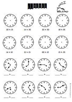 *1ère année* Travailler les heures : dessiner aiguilles (heure indiquée) et lire la bonne heure (grâce aux heures déjà inscrites).