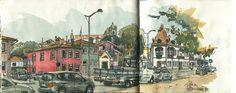 Rua do Passeio Alegre | 출처: postalguarelas