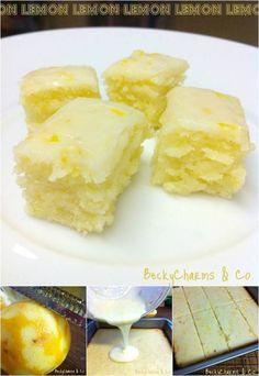 DIY Lemony Lemon Brownies Recipe #food #recipe #brownie