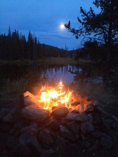 Campfire after fishing. Buck Lake BC 2014.