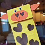 Paper Bag Giraffe Puppet Craft