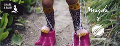 Kids kneehigh socks. Cheetah. Candy Sky. FW2015
