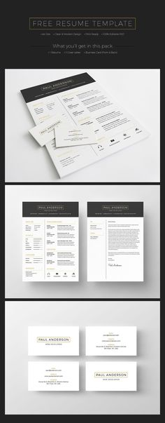 Free Job Card Template Gorgeous 2 Page Cv Template Easy To Editdesigned In Berlin On .