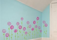 Girls Room Flower Wall Decals