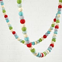 Festive Felt Garland (Vintage White) | The Land of Nod