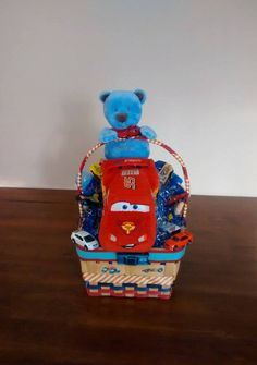 Handmade New Baby Boy CARS Vintage Gift Basket by cappelloscreations, $55.00 @Etsy
