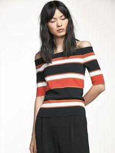 Autumn Spring summer 2017 Women´s RIBBED SWEATER WITH STRIPED DETAIL at Massimo Dutti for 94.5. Effortless elegance!
