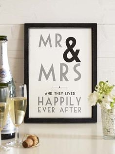 Mr & Mrs - I think this would be a cute thing for the gift table...then cute to hang in the home after
