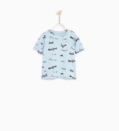 WORDS T-SHIRT-T-SHIRTS-BABY BOY | 3 months - 4 years-KIDS | ZARA United States