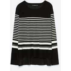 STRIPED SWEATER ❤ liked on Polyvore featuring tops, sweaters, stripe sweater, striped top, stripe top and striped sweater