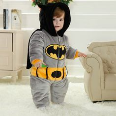 f80dc5efba25 Batman Kigurumi Onesies Pajamas Costumes Toddler Pajamas for Baby ...