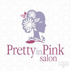 Logo for sale: Beautiful profile of a woman with daisies and floral elements decorating the woman hair.