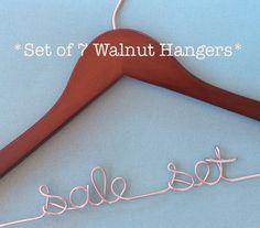 7 Hanger Set, Bridesmaids Hangers, Bridesmaids Gifts, Wedding Hanger, Bride Hanger, Sale Personalized Hangers