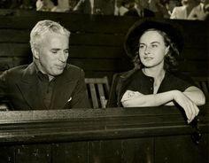 chaplinfortheages: Charlie Chaplin and Paulette Goddard attend tennis tournament - 1937