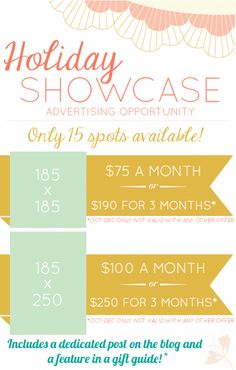 holiday showcase advertising special, grab your spot now!