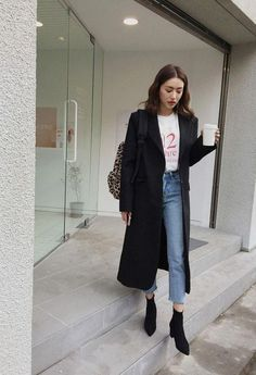 Korean Fashion Trends, Korean Street Fashion, Korea Fashion, Asian Fashion, Casual Outfits, Cute Outfits, Fashion Outfits, Womens Fashion, Fall Winter Outfits