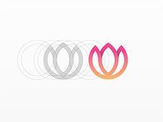 Beautiful Design Work of Yoga Perdana - UltraLinx Flower Graphic, Flower Logo, Logo Lotus, Logo Design Inspiration, Icon Design, Dia Do Designer, Logo Process, Yoga Logo, Lotus Design