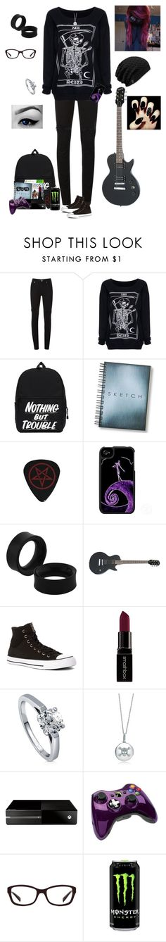 """""""Going to Matt's"""" by the-sickest666 ❤ liked on Polyvore featuring McQ by Alexander McQueen, Converse, Smashbox, BERRICLE, Disney, Microsoft, Oakley, women's clothing, women and female"""