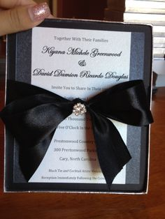 boxed wedding invitation couture elegant formal
