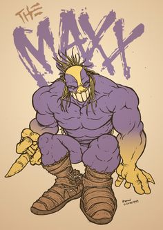 The Maxx - Ramon Villalobos Alex Chung, Jungle Queen, The Maxx, Heroes For Hire, Comic Boards, Fantasy Monster, Comic Movies, Image Comics, Comic Book Covers