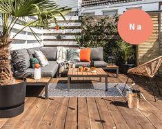 Make-over: het stadse dakterras van influencer Leonie ter Veld Patio Layout, Outdoor Spaces, Outdoor Decor, Rooftop Terrace, Patio Design, Interior Inspiration, Outdoor Furniture Sets, Sweet Home, New Homes