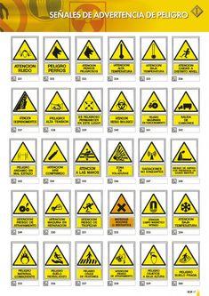 Señales de advertencia de peligro.