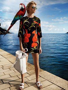 Lara Stone Stars in Vogue China's February Issue #fashion trendhunter.com