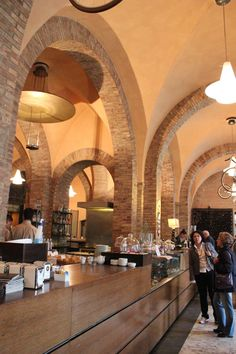 typical coffee place in italy, modena