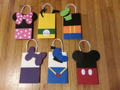 Mickey Minnie & Friends Party Favor Gift Bags by PartyRockinEvents Mickey Mouse Clubhouse Party, Mickey Mouse Parties, Mickey Party, Mickey E Minie, Little Presents, Party Gift Bags, Party Favors, Party Drinks, Mickey Mouse Birthday