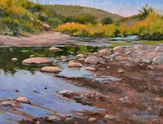 New River by Nancy Romanovsky Oil ~ 9 x 12