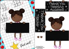 Thank You Teacher And Teaching Assistant Cutie Pie Kids Girl 7 on Craftsuprint - View Now! Quick Cards, Your Teacher, Kids Girls, Thank You Cards, Decoupage, Card Making, Pie, Teaching, How To Make