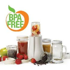 This would be awesome as it can use mason jars!  Personal Blender Model PB-350 Raw Nutrition Canada
