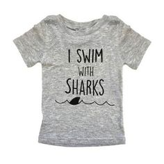 Find the latest in designer kids' clothing, shoes, bedding and home decor. Funny Tees, Funny Tshirts, Shark Clothes, Save The Sharks, Baby Boy Tops, Swim Mom, Shark Bait, Stuff And Thangs, Shark Week