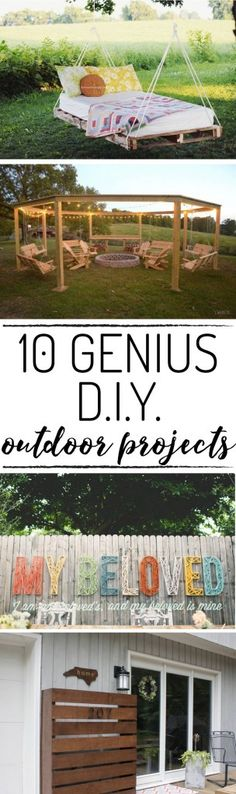OMG! This is the best list of DIY outdoor projects I have seen! Number 1 and 4 are my favorites!