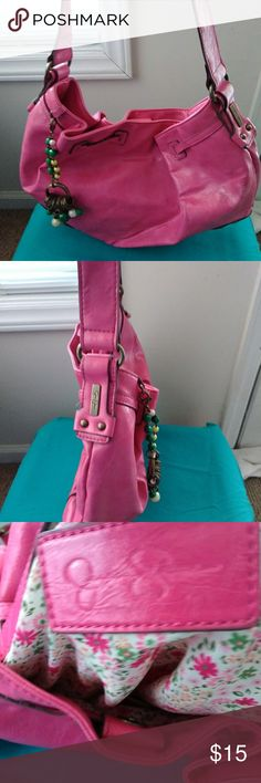 Jessica Simpson handbag Pink handbag does have a light spot on the side but has plenty of wear in it ....will take offers on this item Jessica Simpson Bags Totes