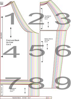 free pattern raglan shirt size 4-22 UK