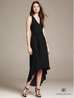 Official bridesmaids' dress. Belted patio dress in black from Banana Republic Monogram. It is simply gorgeous.