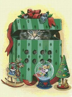 Gary Patterson Cats christmas | SCHHAE-PATTERSON104 #68094]