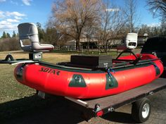 The debate will always rage- drift boat v. But a raft can go where a drift boat shouldn't, and you can take the frame off for whitewater. So a raft it is! Fly Fishing Boats, Kayak Fishing, Inflatable Kayak, Camping And Hiking, Water Crafts, Water Sports, Rafting, Canoe, Pontoon Boats