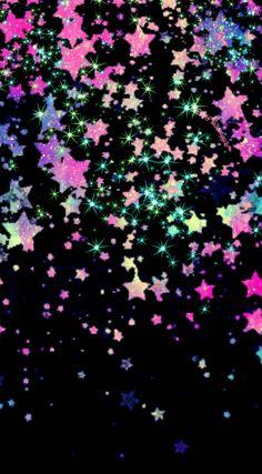 Stars of heaven glitter wallpaper I created for CocoPPa
