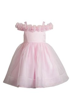 Kleinfeld Pink 'Emily' Organza Dress (Toddler Girls & Little Girls) available at #Nordstrom