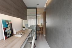 A home workspace fits snugly into this narrow area _ Fertility design