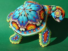 Huichol beaded turtle