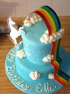 Rainbow cake...unicorn magic