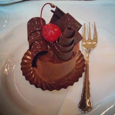 Possibly the most beautiful little cake in the world @ Cafe Central Vienna Black forest gateaux