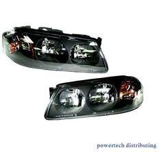 Headlights Headlamps LH Left & RH Right Pair Set of 2 Kit for 04-05 Chevy Impala #AftermarketReplacement