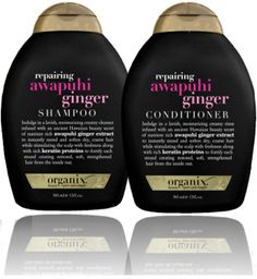 Organix Awaphui Ginger Shampoo & Conditioner  -- This is my summer shampoo and conditioner.