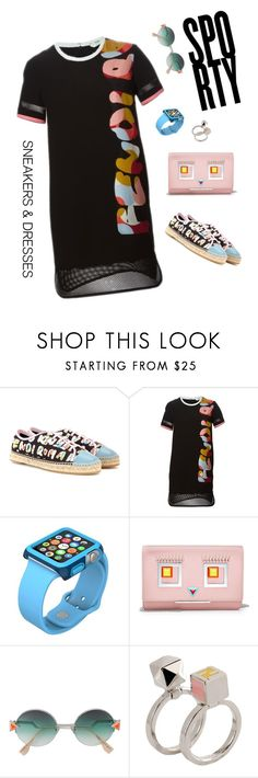 """Sneakers & dresses - Sporty by Fendi"" by olivia-stones ❤ liked on Polyvore featuring Fendi, Apple and authentico"